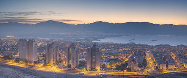 Panoramic view on Eilat and Aqaba Stock Photo