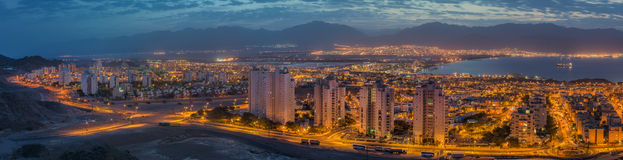 Panoramic View On Eilat City And Aqaba Gulf Royalty Free Stock