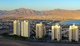 Panoramic view on Eilat city, Israel Royalty Free Stock Image
