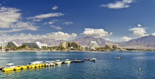 Panoramic view of Eilat, Israel Royalty Free Stock Photography