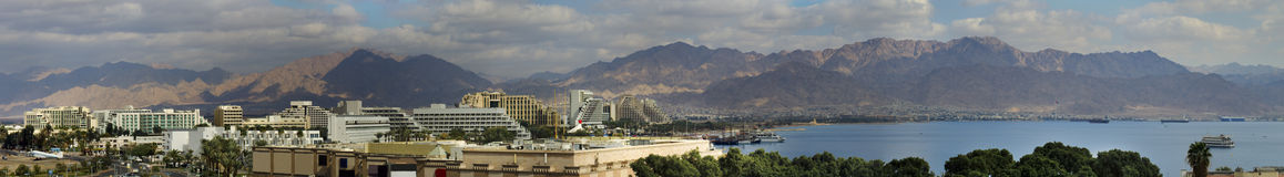 Panoramic view on Eilat. Israel Royalty Free Stock Photography