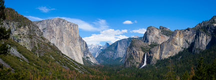 Panoramic view of El Capitan at Tunnel View. Stock Images