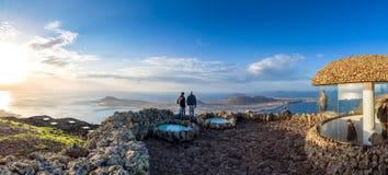 Panoramic view from El Mirador del Rio, Lanzarote. Canary Island Stock Photography