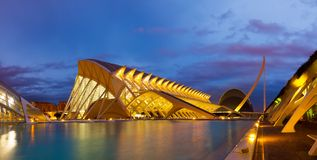 Panoramic view of El Museu de les Ciencies Principe Felipe  in n Royalty Free Stock Image