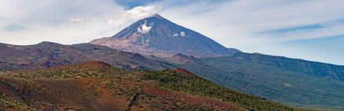 Panoramic view of El Teide and Parque Nacional Royalty Free Stock Photos