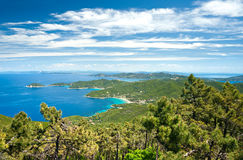 Panoramic view of Elba island. Stock Photo