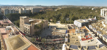 Panoramic view of Elche during Easter Time. Alicante. Spain Stock Images