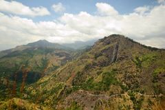 Panoramic view of Ella Rock, Sri Lanka