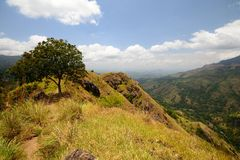 Panoramic view of Ella Rock, Sri Lanka Stock Images