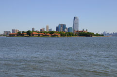 Panoramic View of Ellis Island and Jersey City Stock Photo