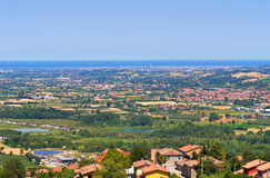 Panoramic view of Emilia-Romagna. Italy. View of Emilia-Romagna. Italy stock photos