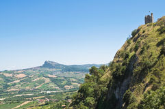 Panoramic view of Emilia-Romagna. Italy. Royalty Free Stock Photos