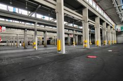 Panoramic view of empty industrial plant site for international fair trades royalty free stock images