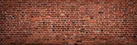 Empty old red brick wall background stock images