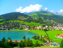 Panoramic view of Engelberg Stock Photography