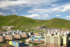 The panoramic view of the entire city of Ulaanbaatar, mongolia Royalty Free Stock Photos