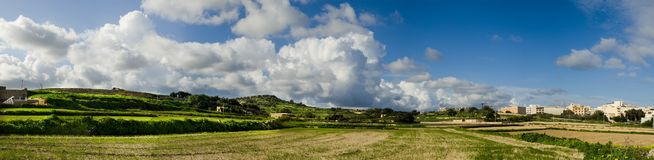 Panoramic view of the Environment in St. Paul Malta royalty free stock images