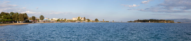 Panoramic view of Eretria, Euboea, Greece Stock Images