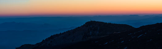 Panoramic view of Etna Royalty Free Stock Images
