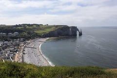 Panoramic view of Etretat Royalty Free Stock Image