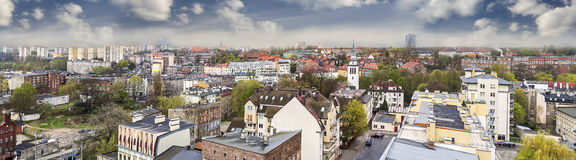 Panoramic view of european city Royalty Free Stock Photography