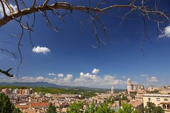 Panoramic view of a european town Stock Photos