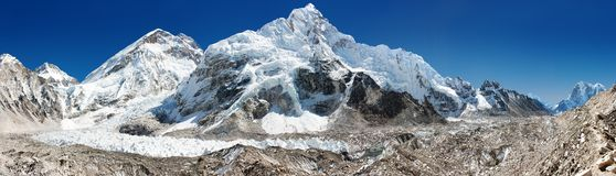 Panoramic view of Everest Stock Image