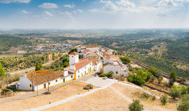 Panoramic view of Evoramonte Stock Images