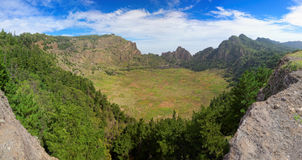 Panoramic view of extinct vulcanic crater on island of Santo Antao, Cape Verde Royalty Free Stock Photo