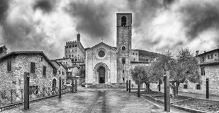 Panoramic view of the Church of St. John, Gubbio, Italy Royalty Free Stock Image