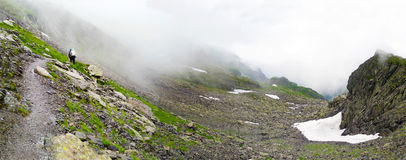 Panoramic view of Fagaras Mountain on summer Royalty Free Stock Photos
