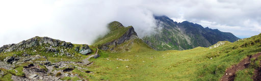 Panoramic view of Fagaras Mountain on summer Royalty Free Stock Photography