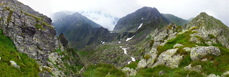 Panoramic view of Fagaras Mountain on summer Stock Photography