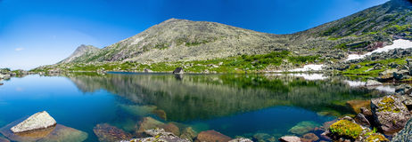 Panoramic view of Fairytale's lake Royalty Free Stock Photos