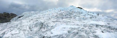 Panoramic view of Falljokull Glacier Falling Glacier Stock Images