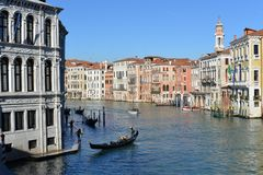 Panoramic view of famous Canal Grande royalty free stock images