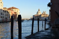 Panoramic view of famous Canal Grande royalty free stock photos
