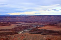 Panoramic view of famous Dead Horse Point State Park, Utah royalty free stock photography