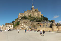 Panoramic view of famous Le Mont Saint-Michel Royalty Free Stock Photo