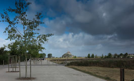 Panoramic view of famous Le Mont Saint-Michel Royalty Free Stock Photography