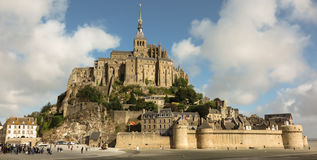 Panoramic view of famous Le Mont Saint-Michel Royalty Free Stock Images