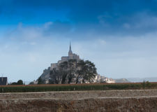 Panoramic view of famous Le Mont Saint-Michel Stock Photography