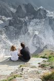 Famous Italian marble quarries, Carrara royalty free stock image