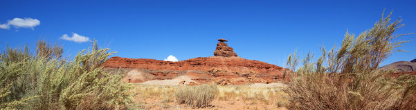Panoramic view of famous Mexican Hat Stock Images