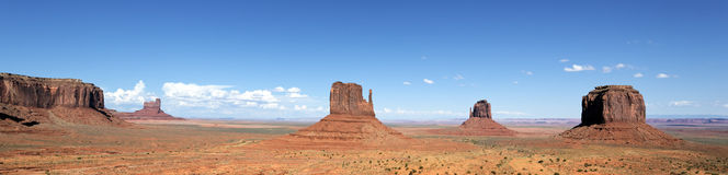 Panoramic view of famous Monument Valley Stock Photo