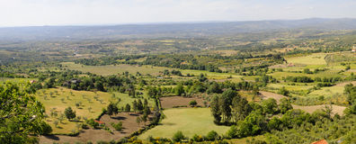 Panoramic view of farmland in portugal Royalty Free Stock Image