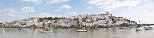 Panoramic view from Ferragudo Portugal Royalty Free Stock Photo