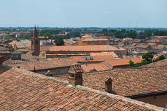 Panoramic view of Ferrara. Emilia-Romagna. Italy. Stock Image