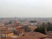 Panoramic view of Ferrara. royalty free stock image
