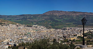 Panoramic view of Fes Stock Images